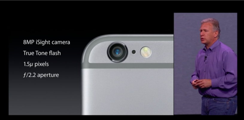 New iSight camera in the iPhone6